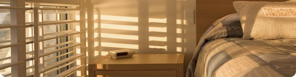 morning natural light shutters